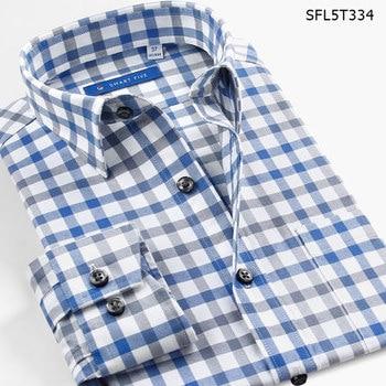 Smart Five Casual Shirt Long Sleeve Pattern Plaid Mens Shirts Flannel 100% Cotton Shirts For Male Fashion  SFL5T296 1