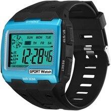 SYNOKE Mens Digital Watches Big Square Dial Alarm Week Shock Resistant Repeater