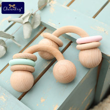 1PC Baby Toys Half Ring Beech Toys Woode