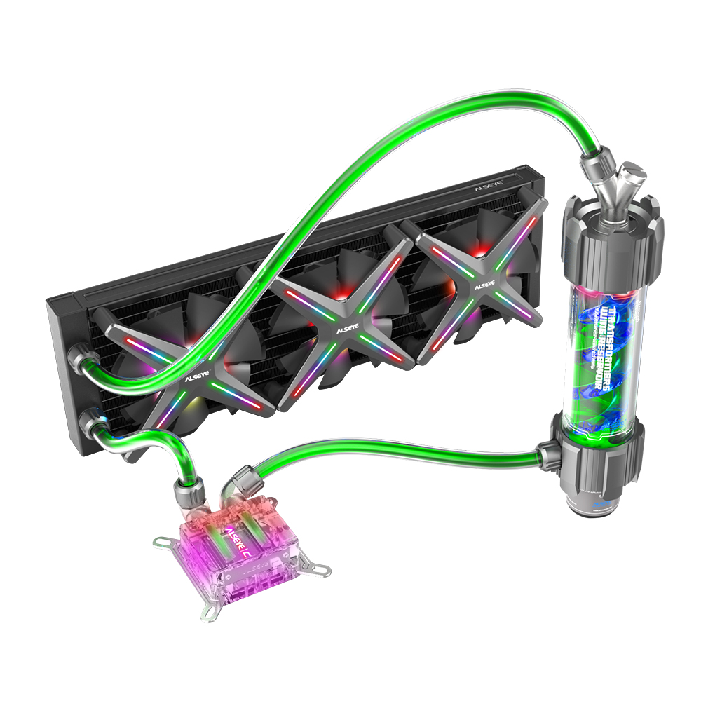 ALSEYE XTREME PC Case DIY Water Coolling 360mm Adjustable RGB ASUS Sync Gigabyte RGB FUSION Support LGA 115x/AM2/AM3/AM4Fans & Cooling   -