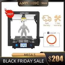 ANYCUBIC 3d Stampante Mega S Aggiornato anycubic i3 Mega Grande Volume di Costruzione Touch Screen Full Metal FDM 3d Stampante kit impresora 3d
