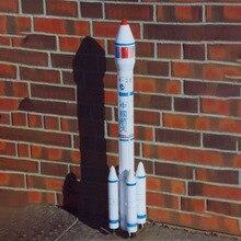 1: 68 Китай длинный Март 3 запуска автомобиля DIY 3D бумажная карточка Модель Строительный набор образовательных игрушек военная модель Строительная игрушка