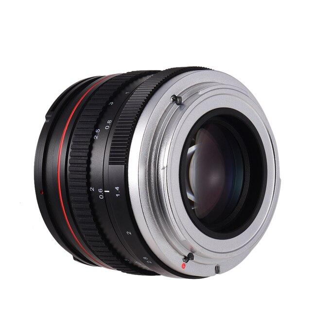50mm f/1.4 מצלמה עדשת USM גדול צמצם סטנדרטי האנשה פוקוס מצלמה עדשת פיזור נמוך עבור Canon 100D 200D 350D