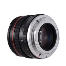 Objectif de caméra 50mm f/1.4 USM grande ouverture objectif de caméra de mise au point anthropomorphe Standard faible Dispersion pour Canon 100D 200D 350D
