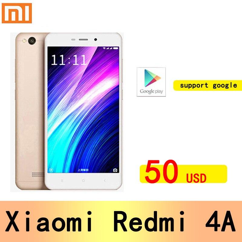 Смартфон Xiaomi Redmi 4A googleplay, Snapdragon 425, задняя камера 13 МП, гибридная, две SIM-карты