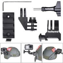 Комплект адаптеров для крепления на рельсах Picatinny для тактических фонариков GoPro для военного страйкбола пейнтбола