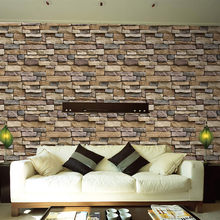 30^45 * 100cm PVC Self adhesive Wallpaper Brick Stone 3D Wall Paper Stickers Kitchen Bedroom Living Room TV Background Wallpaper(China)