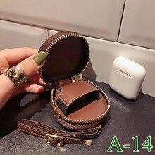 LL-bolsa redonda Universal para auriculares, accesorio para AirPods Por AirPods 2 iPods 3