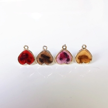 Heart Wool Stuff Stud Earring Accessories Pendant Necklace Supplies for Jewelry Making Accessories Components 6pcs