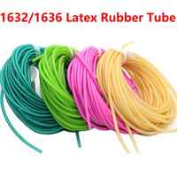 10M 1632 1636 Natural Latex Rubber Tube Elastica Bungee for Hunting Slingshot Catapult 3.2mm and 3.6mm Diameter Rubber Bands