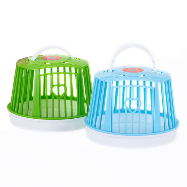 Large Capacity Mini Cute Hamster Cage Single Layer Portable Hamster Habitat Pet Cage For Small Animals Pet Carry Supplies 5