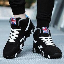 2019 inverno à prova dwaterproof água moda neve botas de homem sapatos tênis com pele de pelúcia quente masculino botas casuais zapatillas de deporte