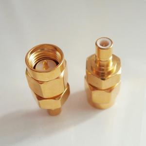 Sma às antenas sma do soquete do conector do smb macho à tomada masculina sma-smb adaptadores coaxiais retos de bronze chapeados a ouro do rf do smb