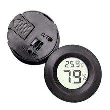 Круглый цифровой ЖК-дисплей контроль температуры и влажности термометр для питомца гигрометр