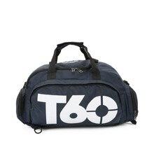 Новая сумка для спортзала, мужская и женская, уличная, водонепроницаемая, раздельное пространство для обуви, сумка для фитнеса, скрытый рюкзак и сумка de