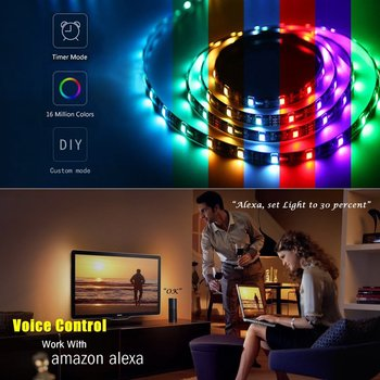 Tuya Smart Home Automation Smart Home LED Light Strip Dimmable Waterproof Flexible RGB Strip Lights Works With Alexa Google Home