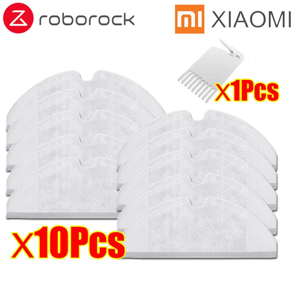 3pcs Roborock S50 S51 Millet Vacuum Cleaner Accessories Mop Cloth 2nd Generation Dry Wipe Wipe Clean Replacement
