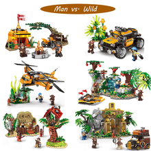 The Technical XINGBAO Genuine Man vs. Wild Primitive Tribe Building Blocks Bricks Toys As for Christmas Compatible With Legolyed