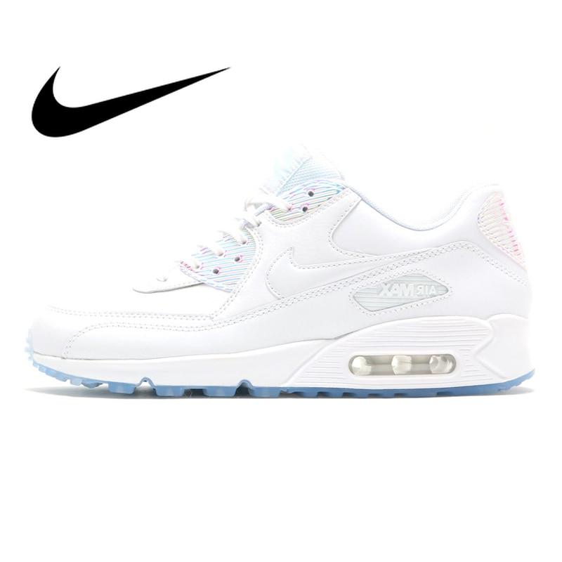 date de sortie: 87d7b 6b771 € 41.42 50% de réduction|Authentique Original Nike Air Max 90 Premium  chaussures de course pour femmes bonne qualité confortable classique  athlétique ...