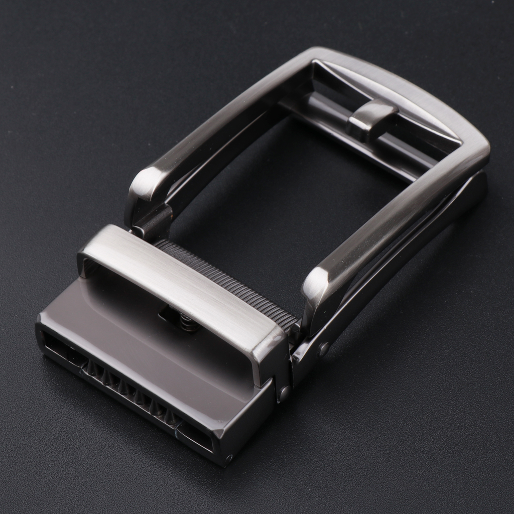 2Pcs Fashion Ratchet Belt Buckle Only Automatic Slide Buckle Fit 3.5cm Belts