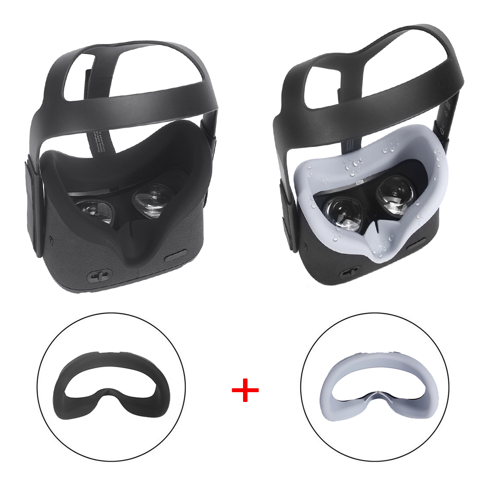 Soft Anti-leakage Light Silicone VR Face Eye Cover Mask For Oculus Quest VR Headset Glasses Anti-sweat Face Eye Cover Pad