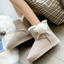 цены Warm Womens Winter Boots 2019 New Fashion Women Snow Boots Cute Plush Suede Boots Ladies Platform White Boots Ladies Black Boots