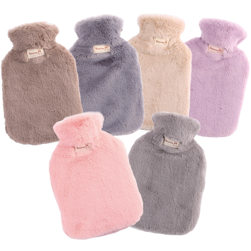 Winter Hot Water Bottle, Portable and Reusable Protective Plush Cover, Used for Back, Neck, Waist, Hands, Bed To Keep Warm