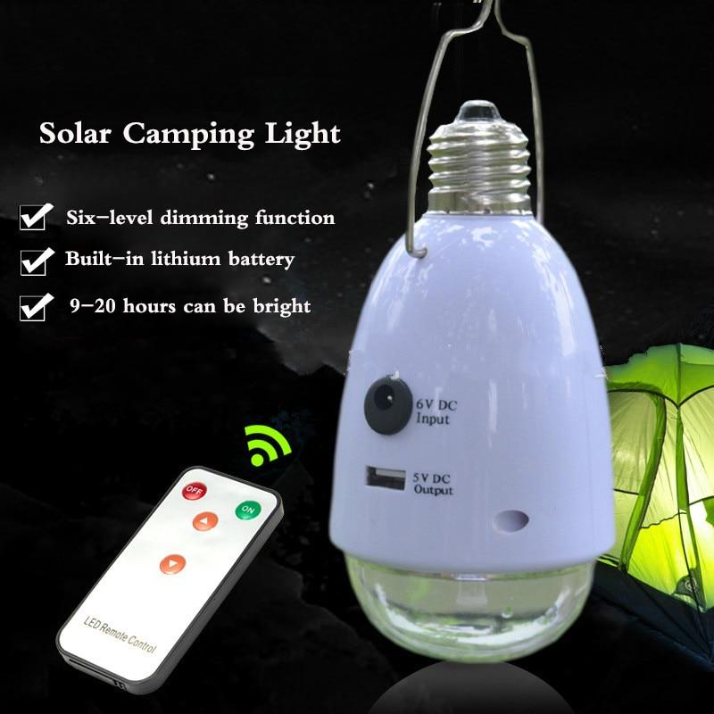Split solar lighting Indoor LED lighting bulb Solar camping hanging lamp Night market stall lamp