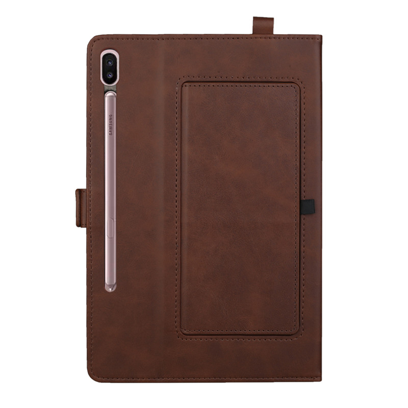 Business Style Smart Case For Samsung Galaxy Tab S6 10.5 SM T860 T865 SM-T860 SM-T865 Cover Multifunction Double Stand PU Funda
