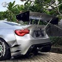 FRP GT Wing Lip For BRZ FT86 GT86 FRS Rocket Bunny Ver 3 Glass Fiber GT Rear Spoiler Body Kit Tuning Trim For FT86 BR Z Racing