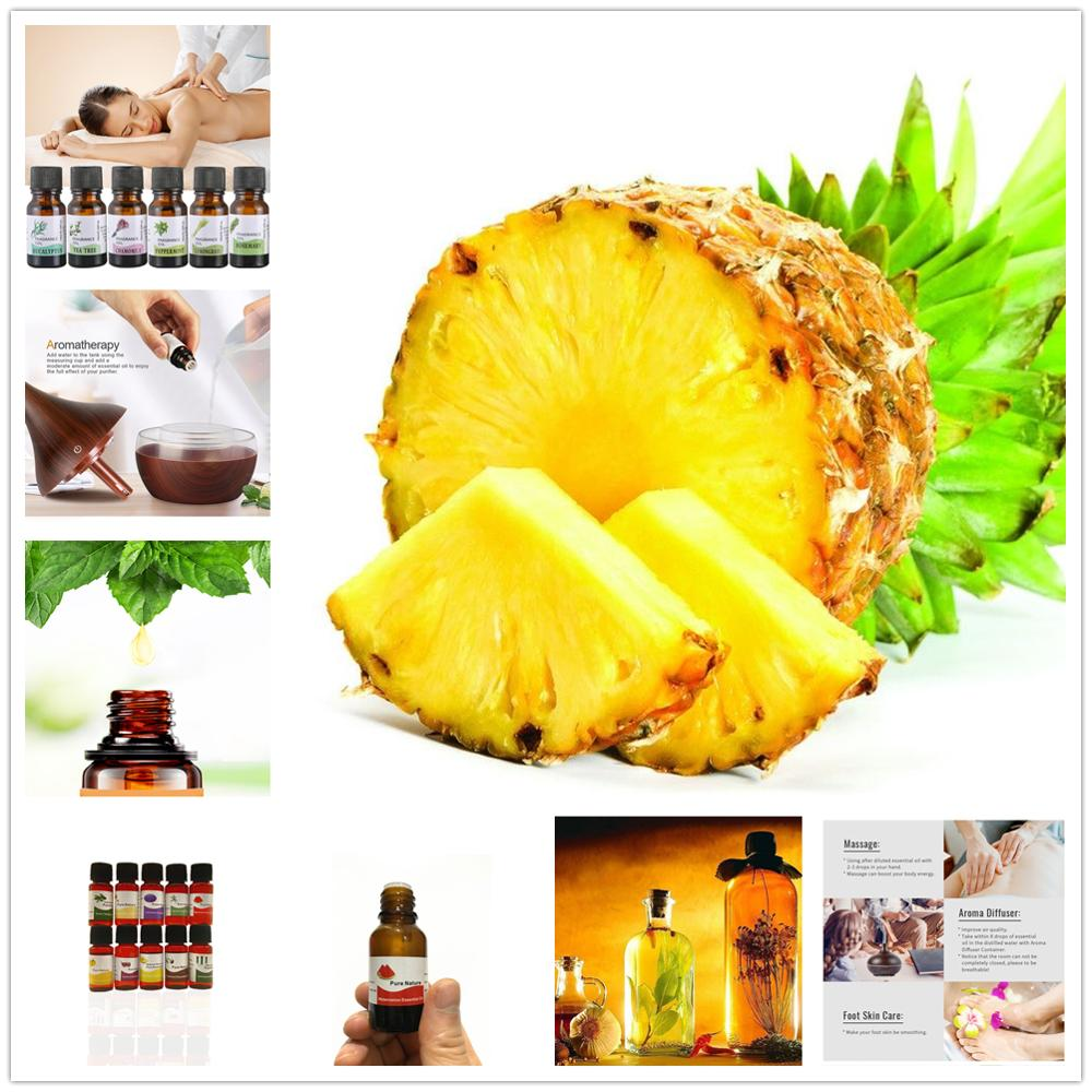 10ML 12 Flavors Pure Aroma Oil Essential Oil For Diffuser Aromatherapy Oil Fruits Pineapple Strawberry Oil Help Sleep TSLM1