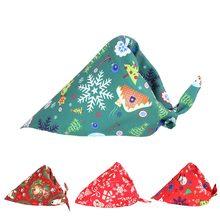 Полиэстер бандана для животных нагрудники Рождественский шарф