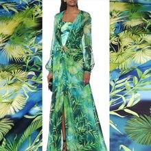 50x145cm Velvet Printed Chiffon Polyester Fabric Cloth Material Factory Custom Dress Sewing Diy Shirt Scarf Fabrics for Sewing