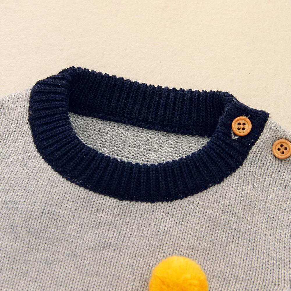Autumn Baby Sweater Knitted Long Sleeve Boys Girls Cartoon Sweaters Casual O Neck Toddler Pullovers Clothes 0 18M Kids Knitwear in Sweaters from Mother Kids