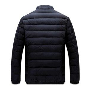 Image 2 - Big Size 2019 White Duck Down męska kurtka zimowa ultralekkie doły kurtka codzienna odzież wierzchnia śnieg ciepły futrzany kołnierz markowy płaszcz parki