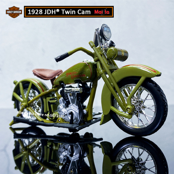 Maisto NEW 1:18 HARLEY-DAVIDSON 1928 JDH Twin Cam Alloy Diecast Motorcycle Model Workable Toy For Children Gifts Toy Collection maisto new 1 10ducati desmosedici alloy diecast motorcycle model workable shork absorber toy for children gifts toy collection