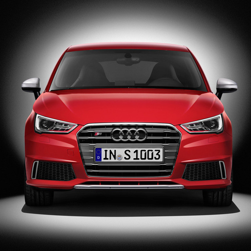 For <font><b>Audi</b></font> A1 RS1 SLine Chrome Frame Gray Front <font><b>Grill</b></font> Grille chrome emblem For <font><b>audi</b></font> A1 <font><b>S1</b></font> RS1 SLine 2010~2015 image