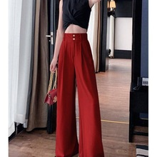 JS2408J-Summer trendy one button skinny pants wide