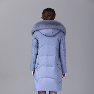Image 5 - 2019 inverno feminino pato para baixo casaco parka longo ultraleve pena natural real pele de raposa luxo alta qualidade pato para baixo jaqueta #8929