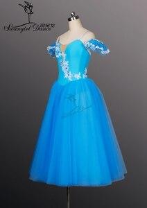 Image 2 - Mavi kuş romantik uzun uzunluk bale tutuş kızlar Giselle bale Tutu uzun bale tutu kızlar için, bale costumeBT8906