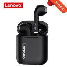 Original lenovo lp2 tws fone de ouvido sem fio bluetooth 5.0 controle toque dupla estéreo baixo fones com micphone esportes