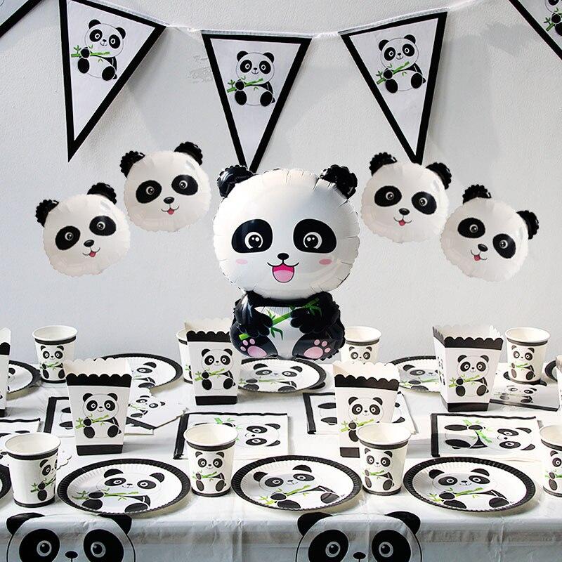 1 Pc Foil Birthday Party Balloons Decoração De Aniversário Panda Crianças Bambu Floresta Animal Balão Inflável Do Bebê Chuveiro Decoração Globos