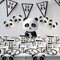 1 шт Panda на день рождения Фольга шары День рождения украшения дети бамбуковый лес животного надувные шаре Baby Shower Декор Globos