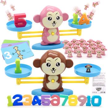 Math Match zabawki edukacyjne dla dzieci do nauki dodawania i odejmowania Gry planszowe małpki kotki świnki i inne zwierzątka tanie i dobre opinie Z tworzywa sztucznego CN (pochodzenie) ME0042 2-4 lat Unisex NONE