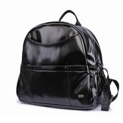 Neue Mode PU Schwarz Windel Rucksack für Baby Große Kapazität Wasserdichte Taschen Windel Tasche für Mutter Kinderwagen Reise Tasche