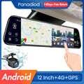 12 pouces voiture DVR Android 8.1 4G WiFi GPS Navigation rétroviseur Auto enregistreur voiture DVR miroir tableau de bord caméra FHD voiture miroir VIde