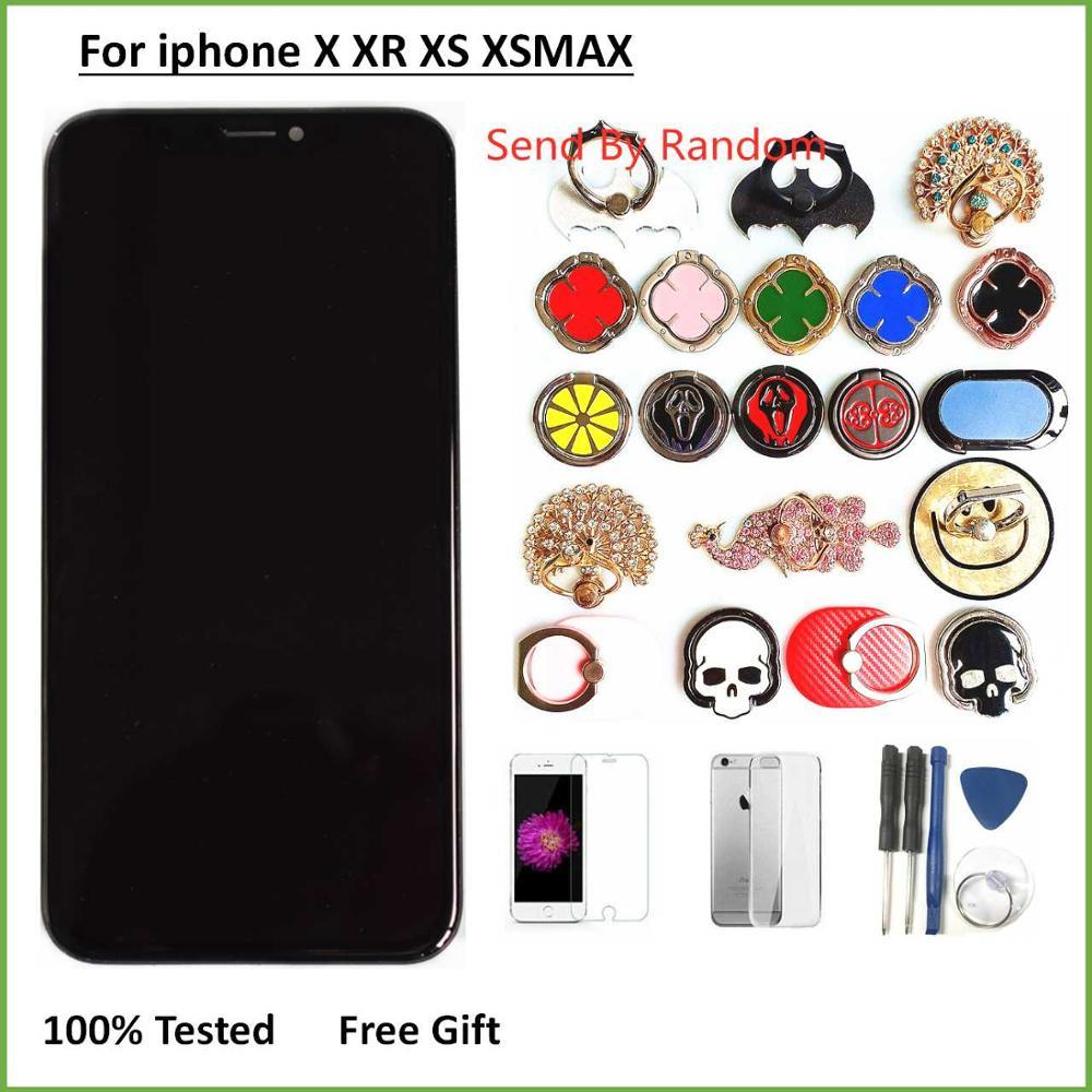 100% testado lcd pantalla para iphone x lcd 10 xs screen display lcd de toque digitador assembléia para iphonex oled xs tft xr