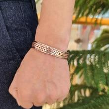 Bracelets torsadés en cuivre pur pour hommes, Bracelet magnétique pour la santé, énergie, avantages, manchette ajustable