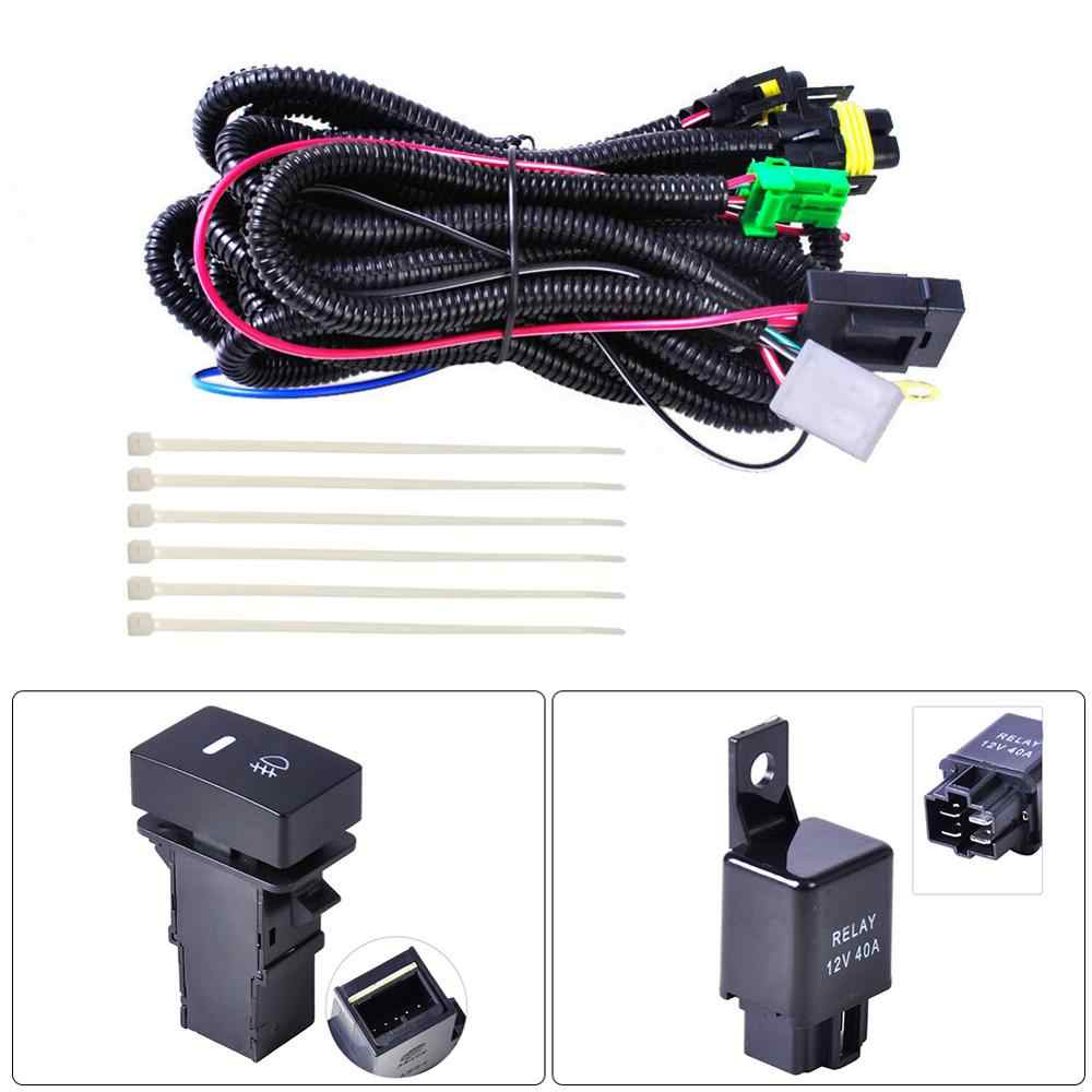 H11 Fog Light Wiring Harness Sockets Wire Switch With Led Indicators At Relay For Ford Focus For Nissan For Honda Wire Aliexpress