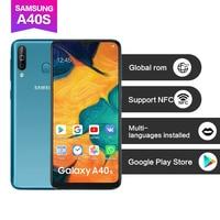 Samsung Galaxy A40s telefon komórkowy 6GB RAM 64GB ROM 6.4 cala 4G LTE telefon komórkowy z androidem 5000mAh Smartphone w Telefony Komórkowe od Telefony komórkowe i telekomunikacja na